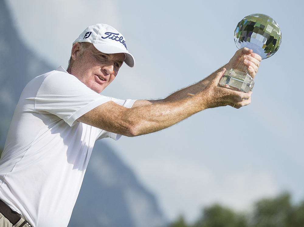 The Winner Gordon Manson (AUT) at the Swiss Seniors Open Golf tournament in Bad Ragaz, Switzerland, Sunday, 05 July 2015. (PHOTOPRESS/ Dominik Baur)
